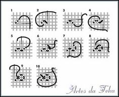 çaria♥ ARTES DA TEKA: Pontos de Tape casa caiada tapecaria