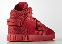 adidas Tubular Invader Red October Heel
