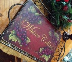 Whine Cellar Tray pattern Cellar, Tray, Pattern, Painting, Home Decor, Decoration Home, Room Decor, Patterns, Painting Art