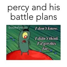 Percy Jackson  Battle plans