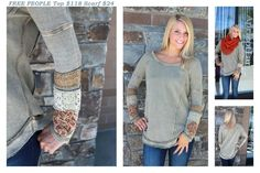 FREE PEOPLE top with sleeve details