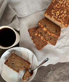 Moist Banana Bread that is easy to make and uses up all those sweet ripe bananas. The crunch of pecans in it is the perfect bite to enjoy with coffee! Banana Uses, Moist Banana Bread, Bread Bun, Fall Recipes, Pecan, Buns, Food To Make, Sweet Treats, Homemade