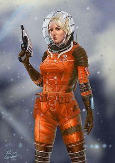 Space Girl by Jahmani on DeviantArt