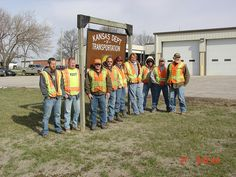 KDOT employees at Altamont Subarea Office. They are participating in National Work Zone Awareness Week, April 15-19, and wearing orange to show their support for highway workers across Kansas to raise awareness on the need for safety in work zones. Find out more about KDOT's work zone safety efforts at http://www.ksdot.org and click on the Go Orange logo.