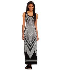 Calvin Klein Abstract-Print Maxi Dress | Dillard's Mobile