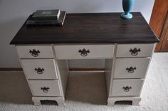 Grandpa's Desk Newly Re-Finished.  Fab Rehab Creations