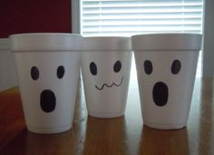 how to make ghost cups