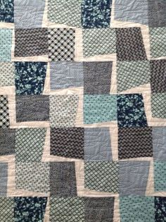 Lightening Wonkie Quilt....Love using Denise Schmidt Fabric..Pigeon Sister Project by Libby Engel