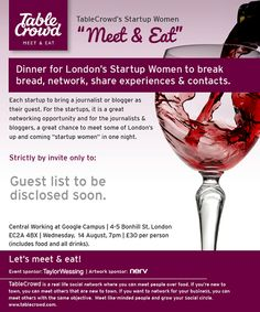 Date announced for Startup Women 'Meet & Eat'