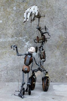 Unique Metal sculptures by Artist JOH' #artpeople