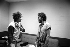 Bob Dylan and Bruce Springsteen Awesome People Hanging Out Together: http://awesomepeoplehangingouttogether.tumblr.com