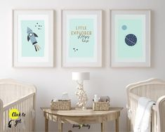 Nursery art set from Sunny and Pretty. Simple, cute, little explorer nursery wall art for a space themed nursery. Nursery art and nursery prints to complete your nursery décor project. Our nursery wall art is made with love and is designed to reflect your nursery wall décor style. 🖤 Get excited about decorating for your little one! #sunnyandpretty Outer Space Nursery, Space Themed Nursery, Baby Boy Nursery Decor, Baby Boy Rooms, Baby Room Decor, Nursery Décor, Baby Boy Nursery Themes, Nursery Quotes, Project Nursery