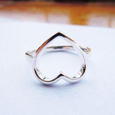 Sterling Silver Open Heart Ring HandMade by SterlingSilverJewels Metal Company, Jewelry Stores, Heart Rings, Best Gifts, Fine Jewelry, Silver Rings, Sterling Silver, Handmade, Stuff To Buy