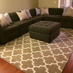 Threshold fretwork rug living room pictures Best Find