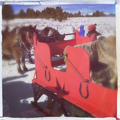 Sleigh ride at Angel Fire Ski Resort New Mexico