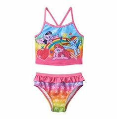 My Little Pony 2-pc. Tankini Swimsuit Set - Toddler Girl @ niftywarehouse.com #NiftyWarehouse #MyLittlePony #Cartoon #Ponies #MyLittlePonies