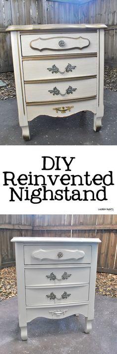 DIY Bedside Makeover: a Reinvented Nightstand + a Vintage-Inspired Birdhouse Lamp