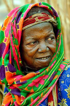 Pretty African lady,  her life is framed by  the knowledge passed down from  ancestor to ancestor.