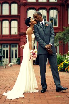 I have to re-pin this because there are no pictures of black weddings on Pinterest!
