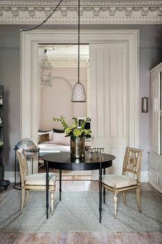 image from http://trendland.com/a-peack-at-interior-designer-hilary-robertsons-apartment/ #47ParkAvenue #Pink & #Black #2014 #interior #design