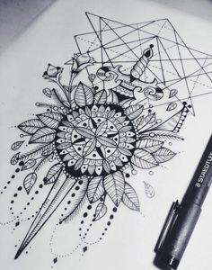 mandala-tattoo-skizze-zeichnung-schwraz-weiss