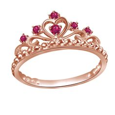 Purchase Red Rubies Rose Gold Engagement Wedding Band Crown Ring # Free Stud Earrings from JewelryHub on OpenSky. Share and compare all Jewelry. Antique Diamond Rings, Rose Gold Diamond Ring, Gold Diamond Wedding Band, Diamond Cluster Ring, Rose Gold Crown Ring, Wedding Bands, Crown Rings, Pear Diamond Engagement Ring, Vintage Rose Gold
