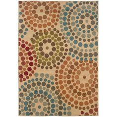 Spiral Mosaic Tan 3 ft. 10 in. x 5 ft. 5 in. Area Rug