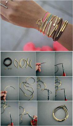 Long leather bracelet