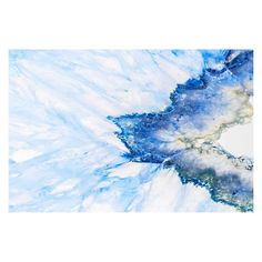 Marmont Hill Blue Crystal Shards Painting Print on Wrapped Canvas - G32-1-C-