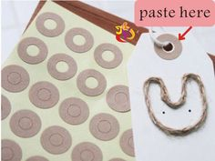Wholesale Kraft Ring Label Stickers for Gift Tag 1500pcs  0.9cm (0.35 in) X Hole 0.5cm(0.2 in)