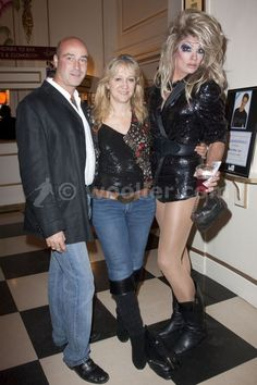 matthew mitchell (producer), sonia friedman (producer) and ben bunce arrive for john barrowman's first bow as albin/zaza in la cage aux folles at the playhouse theatre, london, england on 5th october 2009.