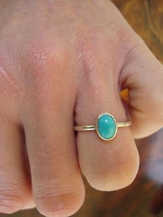 Tiny turquoise and silver ring by antennaeart on Etsy, $35.00