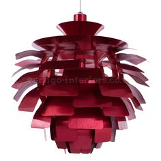 Henningsen Artichoke Lamp - Medium Red   Vertigo Interiors USA