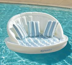 Super comfortable with a wraparound backrest and soft removable cover, the Sofa Pool Float takes backyard relaxation to the next level. Sit back poolside or drift lazily on the water – this float lets you feel luxurious either way. Swimming Pool House, Cool Swimming Pools, Cool Pools, Cute Pool Floats, Pool Floats For Adults, Summer Pool, Beach Pool, Pool Fun, Giant Inflatable Pool Floats