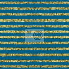 Naklejka Jednolite wzór ze złotymi paskami