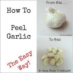 How To Peel Garlic Easy Way