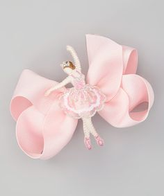 Take a look at this Pink Ballerina Bow Clip by Charla's Place on #zulily today!