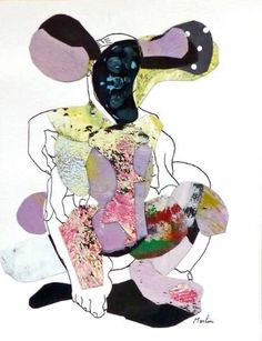Saatchi Art: character Collage by Pascal Marlin Dada Collage, Paper Art, Saatchi Art, Minnie Mouse, Disney Characters, Fictional Characters, Original Art, Abstract Art, Artist