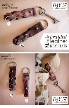 Day 57 - Magic Braided Leather Keychain
