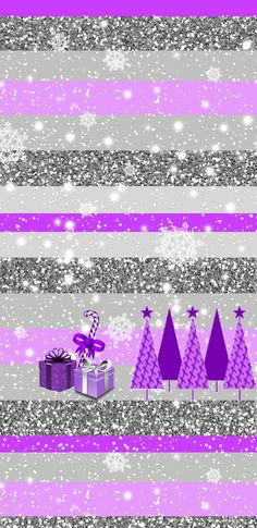 Purple Christmas wallpaper. ♡NOTE8LOVE