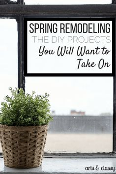 Here are some Spring remodeling the DIY projects you will want to take on!