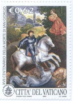 Vatican City Stamp for the 1700 year of St. George's Death