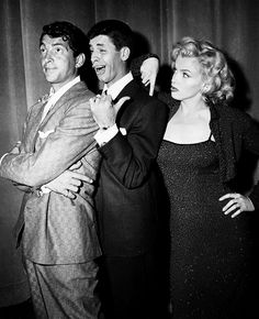 Dean Martin, Jerry Lewis, and Marilyn Monroe at the Redbook Awards (2-24-1953)