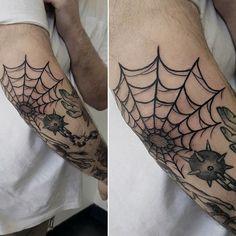 Medium Size Black Ink Spider Web Tattoo On Elbow Tattoos Tattoos