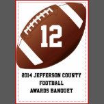 Custom Football Banquet Table Number Card Table Cards | Zazzle