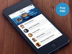 iOS7 Contacts app (Free PSD)