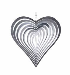 Heart Shaped Steel Windspinner for The Garden for sale online Wind Spinners, Garden Ornaments, Sun Catcher, Outdoor Rooms, Wind Chimes, Heart Shapes, Stained Glass, Ceiling Lights, Sculpture