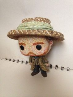 Custom Vincent Van Gogh Funko Pop By Amanda Davis | Vincent as seen in the Doctor Who episode Vincent And The Doctor