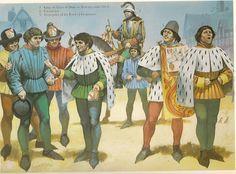 Angus Mc Bride - Nobles y heraldos franceses, C 1450.