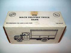 ERTL 1926 MACK DELIVERY TRUCK BANK VALLEY FORGE DIE CAST 1:38